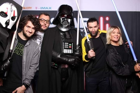"Gina Pistol și Smiley au fost la avanpremiera ""The Rise of Skywalker"", ultimul film din saga ""Star Wars"". Foto: click.ro"
